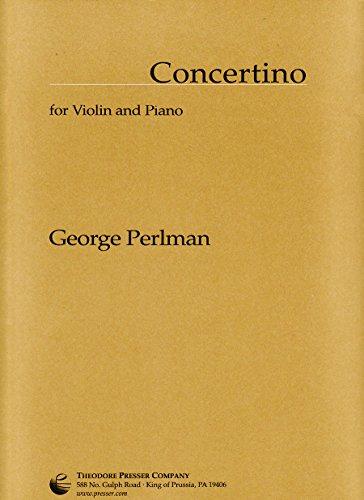 Concertino for Violin and Piano (Solo Part and Piano Score)