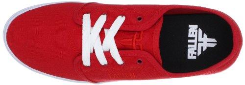 Fallen DAZE 41070064 - Zapatillas de skate de lona para hombre Rojo (Rot (Red))