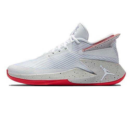 Jordan Scarpe Fly Lockdown Bianco/Grigio/Rosso Formato: 42