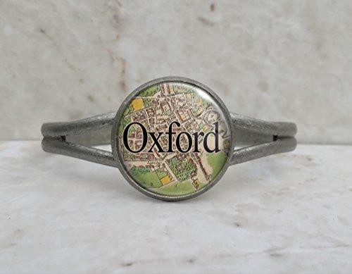 Cuff Oxford (Oxford England 1605 Map Cuff Bracelet)