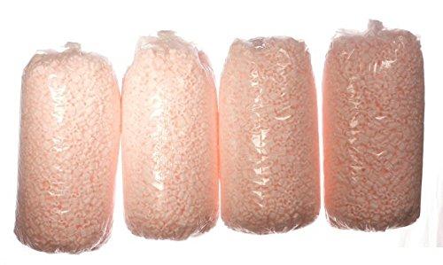 Bubblefast Brand 14 cu. ft. Pink Anti Static Packing Peanuts (3.5 cu. ft x 4 Bags)