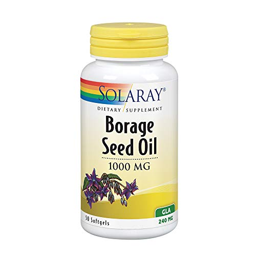 Solaray Borage Seed Oil GLA Capsules, 240 mg, 50 Count (Borage Seed Oil Capsule)