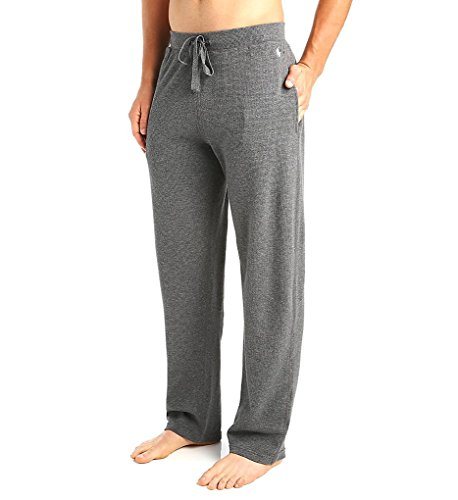 Polo Ralph Lauren Waffle Knit Lounge Pants, M, Charcoal Heather (Cotton Embroidered Knit Pants)