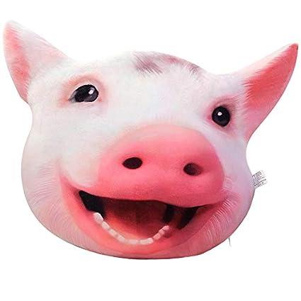shjgfvhn Peluches Cute Pig Head Doll Girl Holds Pillow ...