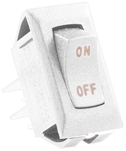JR Products (12581-5 White/Gold 12V On/Off Switch, (Pack of 5)