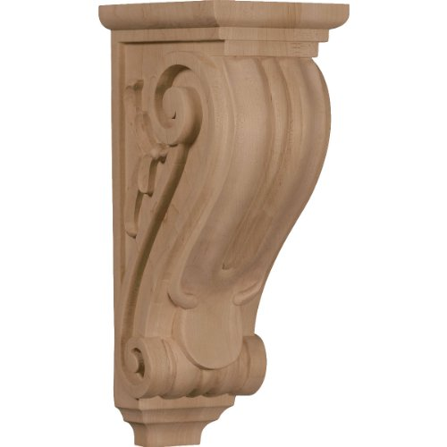 Ekena Millwork CORW05X07X14CLRO 5-Inch W x 7-Inch D x 14-Inch H Large Classical Corbel, Red Oak ()