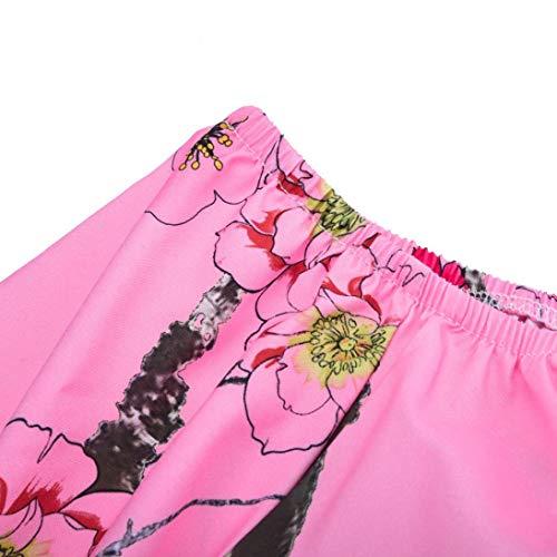 Tops Vetement Longue Shirt Casual Hiver Basique Chemise Florale Habite SANFAHSION Automne Haut Lin Mode paule Tee Chic Dnud Manche Rose Femme zOqvF0Z