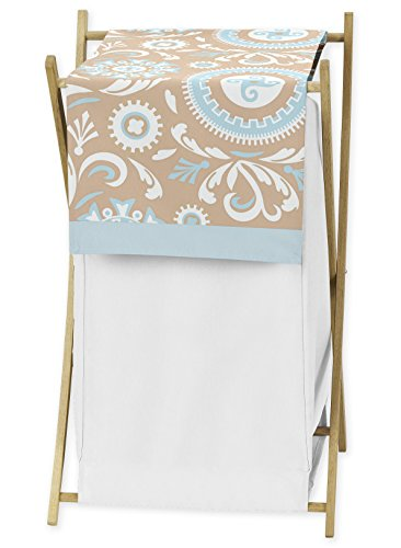 Baby Hayden Bedding - Baby/Kids Clothes Laundry Hamper for Blue and Taupe Hayden Bedding by Sweet Jojo Designs