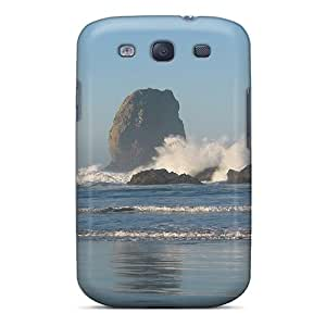 Ultra Slim Fit Hard CalmCases Case Cover Specially Made For Galaxy S3- Twin Needle Rocks Beach