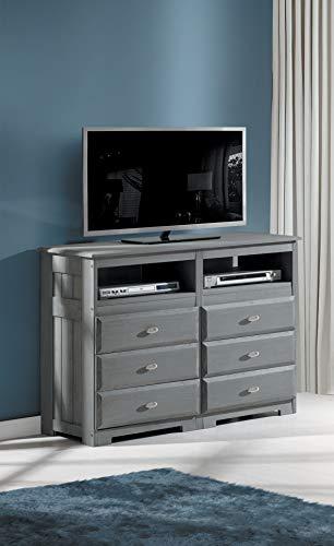 American Furniture Classics 3271 Dresser, Charcoal - Full Bedroom Vanity Size