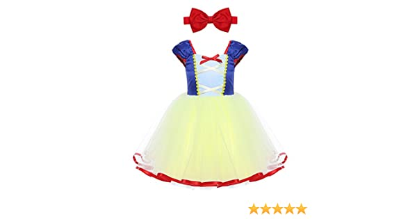 ranrann Disfraz de Blancanieves Princesa para Niña Vestido Tutú de ...