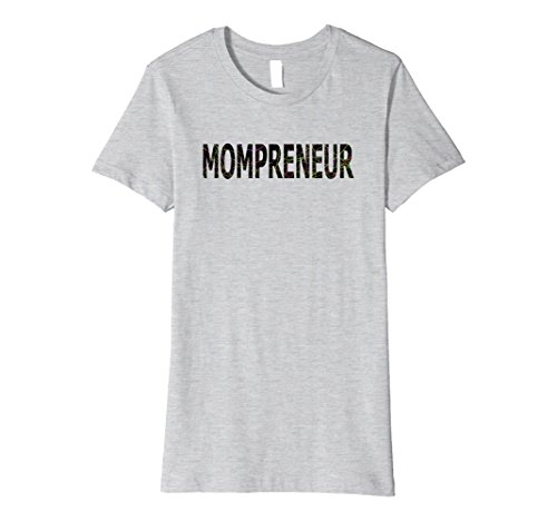 Womens Cool Mompreneur T-shirt for Independent Girl Bosses XL Heather Grey