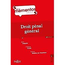 Droit pénal général (Mémentos) (French Edition)