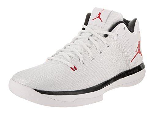 Jordan Nike Men's Air XXXI Low White/University Red/Black Basketball Shoe 11.5 Men US