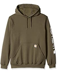 Men's Midweight Signature Sleeve Logo Hooded Sweatshirt K288