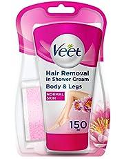 Veet In Shower Hair Removal Cream Normal Skin with Lotus Milk & Jasmine (150ml)