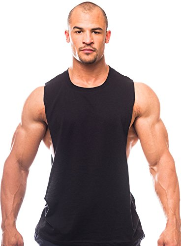 Muscle Cut Workout Crew Neck - Open Sides M100-XL-Black