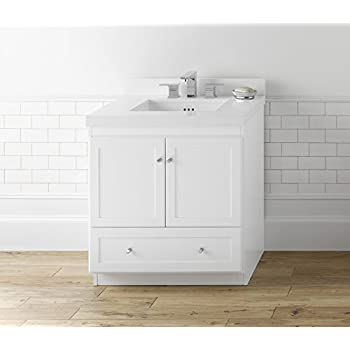 RONBOW Shaker 30 Inch Bathroom Vanity Base Cabinet with ...