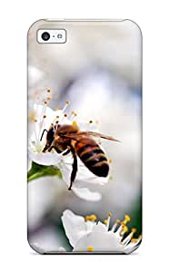 New Snap-on ZippyDoritEduard Skin Case Cover Compatible With Iphone 5c- Bee Gathering Pollen