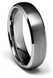 6mm Beveled Edge Tungsten Wedding Band