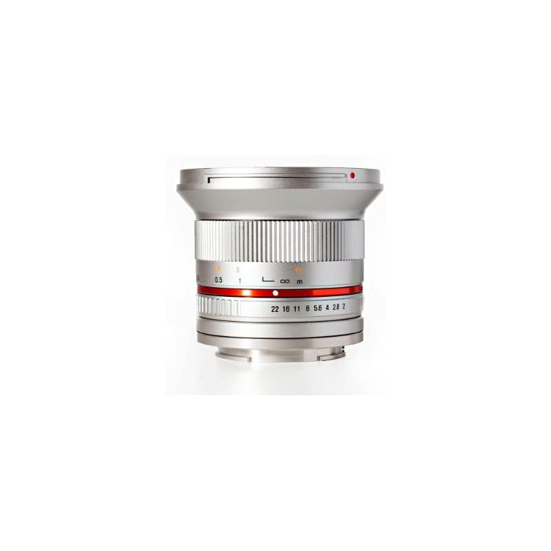 Rokinon RK12M-FX-SIL 12mm F2.0 Ultra Wide Angle Lens for Fujifilm X-Mount Cameras