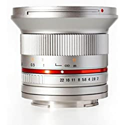 Rokinon RK12M-E-SIL 12mm F2.0 Ultra Wide Angle Fixed Lens for Sony E-mount (NEX) and for Other Cameras