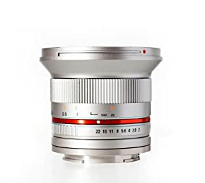 Rokinon RK12M-MFT-SIL 12mm F2.0 Ultra Wide Angle Lens for Olympus/Panasonic Micro 4/3 Cameras