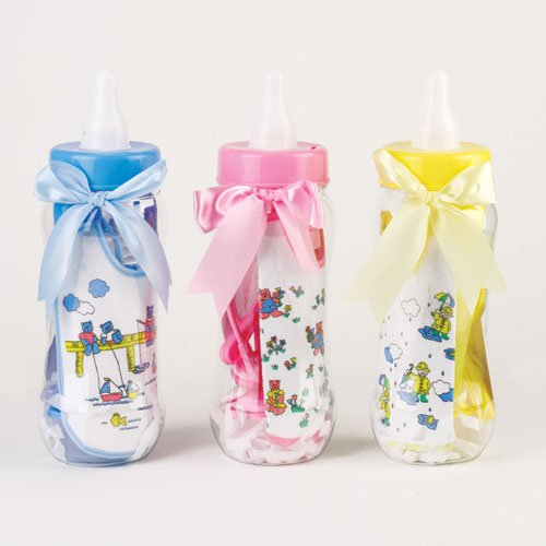 8-Piece  Baby Bottle Bank - Baby Bank Pink Bottle