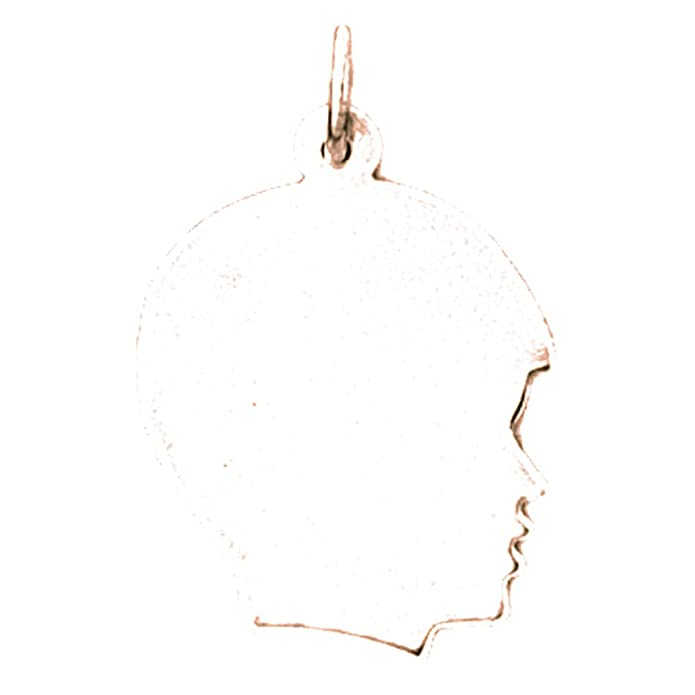 Jewels Obsession Handcut Necklace 14K Yellow Gold-plated 925 Silver Hand-cut Pendant with 18 Necklace