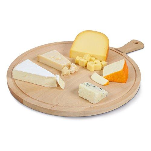 Boska Holland Beech Wood Cheese Board, Round Paddle Board, 16.5