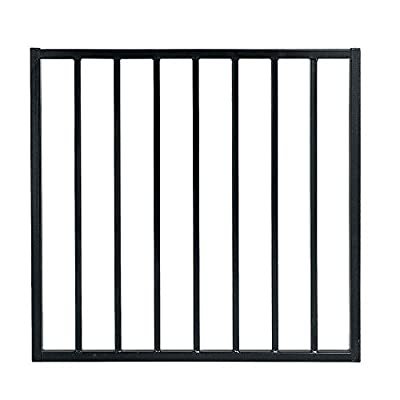 US Door & Fence Pro Series 3 ft. W x 2.6 ft. H Black Steel Fence Gate