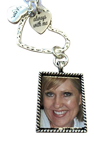 Harper Olivia Bridal Bouquet Photo Charm Wedding Memorial for Brides Mom Always with You' Wedding Memorial Gift ()