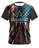 CoolWick Mens Brunswick Old Glory Bowling Jersey (3X)