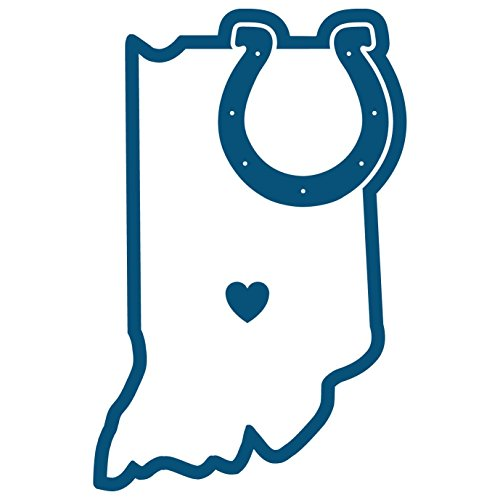 NFL Indianapolis Colts Home State Decal, 5""