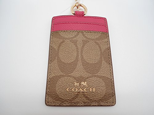 Coach Signature Canvas Leather Lanyard