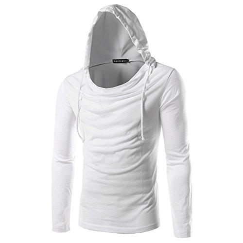 Film Strip Long Sleeve Shirt (Mada Men's Stylish Casual Long Sleeve T-shirt Slim Sport Hoodies Asian XX-Large)