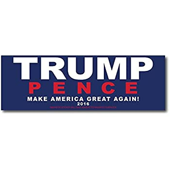 Donald trump and mike pence magnetic bumper sticker blue