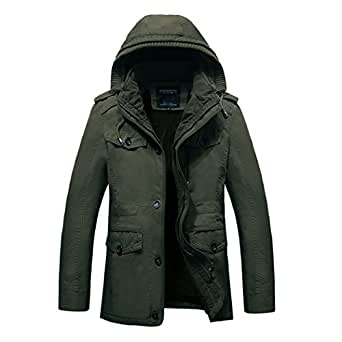 Real Spark Men's Winter Thicken Cotton Military Parka