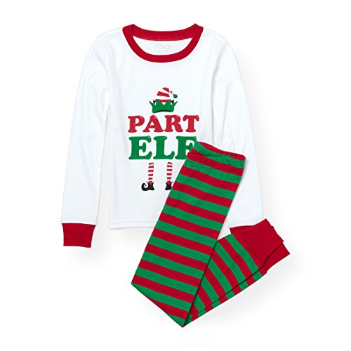 The Children's Place Big Boys' Christmas Pajama Set, Ruby 90305, 10 ()