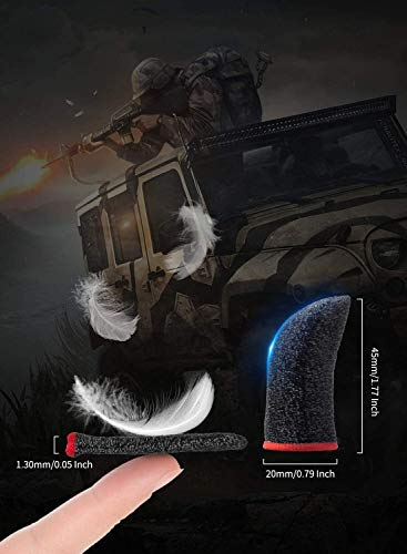 Highly Sensitive Mobile Game Controller Finger Sleeve Sets [20 Pieces ], Anti-Sweat Breathable Full Touch Screen Sensitive Shoot Aim Joysticks Finger Set