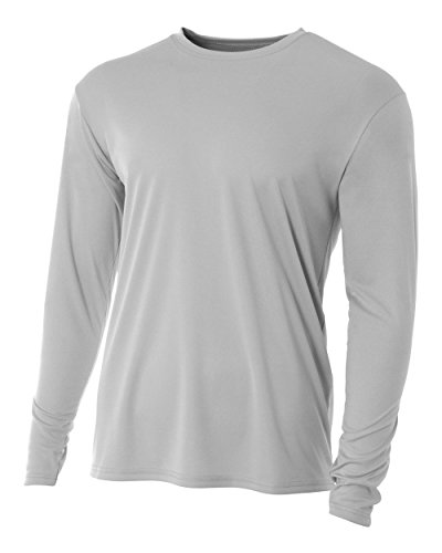 Wicking Softball Jersey - Authentic Sports Shop Silver Youth XL Long Sleeve Wicking Cool & Comfortable Shirt/Undershirt