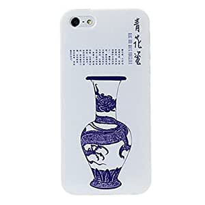 JOE Porcelain Style Dragon Pattern TPU Soft Back Cover Case for iPhone 5/5S