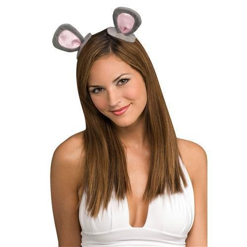 Rubie's Costume Co Mouse Ears on Clips Costume, One Size, Grey/Pink -