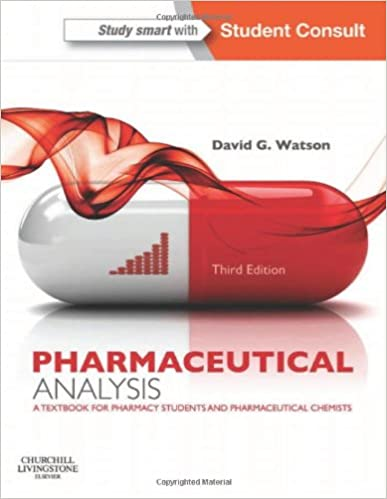 Book Pharmaceutical Analysis: A Textbook for Pharmacy Students and Pharmaceutical Chemists, 3e