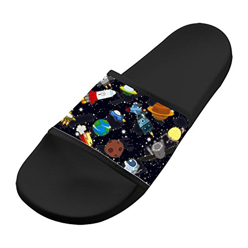 Original Slippers Antiskid Shower Family Flip-flop Space Ship Shoes Open Toe Flat Sandals Adults 11 B(M) US from LLSUSLP