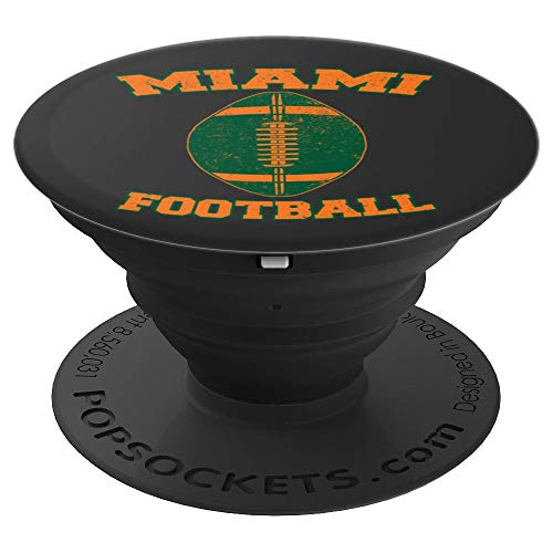 (Miami Football Apparel Co. - Signature Pop Socket - PopSockets Grip and Stand for Phones and)