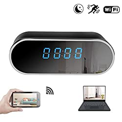 KAMRE WiFi Hidden Spy Camera Clock 12 Hour System,Full HD 1080P Wireless Camera with Motion Detection,Night Vision,Realtime Video,Covert Nanny Cam for Home Security (Clock)