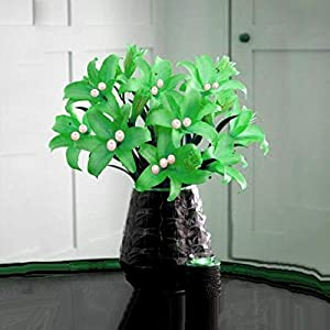 Efavormart 70 Tiger Lily Artificial Wedding Flowers for DIY Wedding Bouquets Arrangements Party Home Decorations - Lime Green 8
