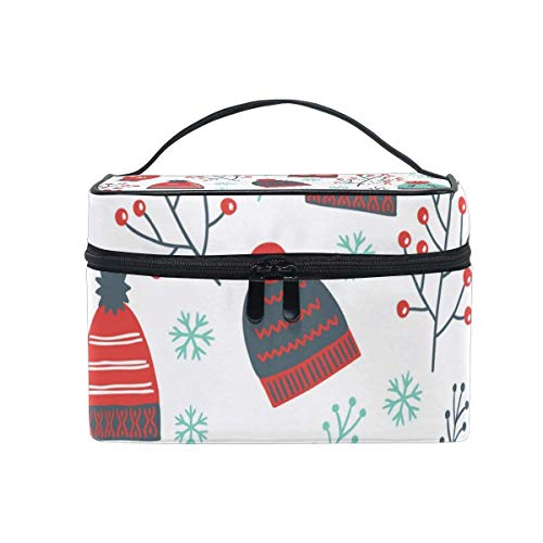 Makeup Bags Organizer Hat Gloves Tree Branches Snowflake Large Travel Cosmetic Beauty Storage Toiletry Pouch for Women by All agree