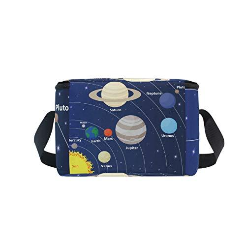 déjeuner Bandoulière Boîte système étoiles pour lunch à avec Sun pique à refroidisseur Sac et solaire planètes nique 5OBBUw